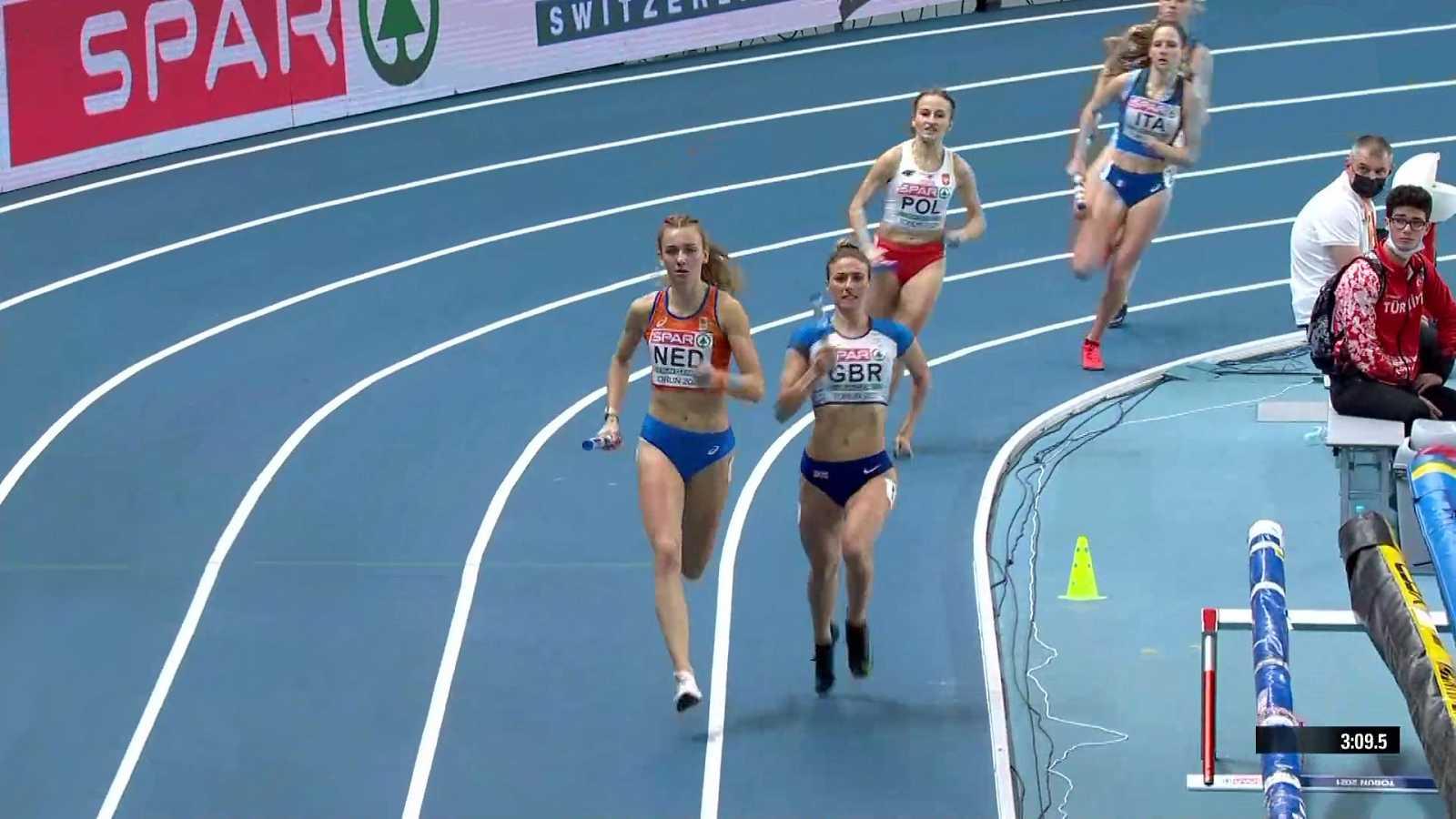 Atletismo - Campeonato de Europa Pista Cubierta. Final Femenina 4x400m - ver ahora