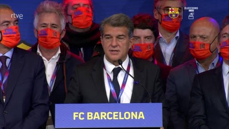 Laporta agraeix el gest de Leo Messi i ret homenatge a Johan Cruyff