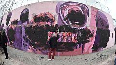 Aparece vandalizado el mural feminista de Madrid
