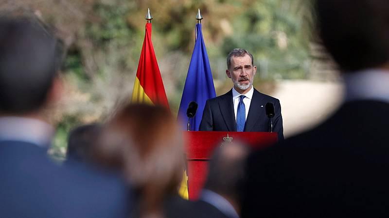 El rey llama a preservar la memoria de las víctimas del terrorismo y a la unidad frente a la violencia.