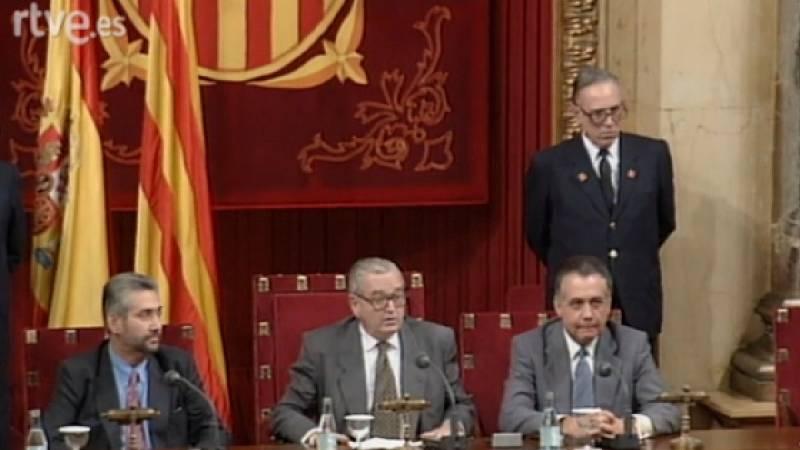 Arxiu TVE Catalunya - Joan Reventós elegit president del Parlament de Catalunya i discurs de presa de possessió