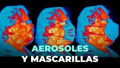 Así se ven los aerosoles que transmiten el coronavirus con distintas mascarillas