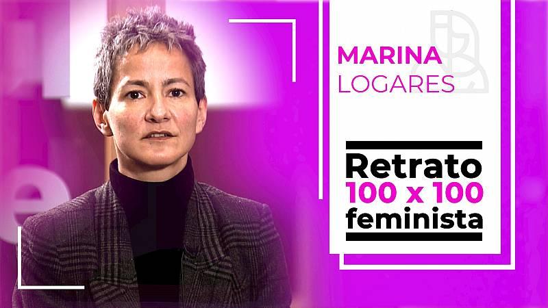 Objetivo Igualdad-Retrato 100x100 feminista: Marina Logares