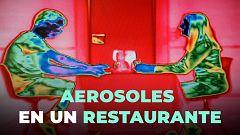Así se ven los aerosoles que transmiten el coronavirus en un restaurante