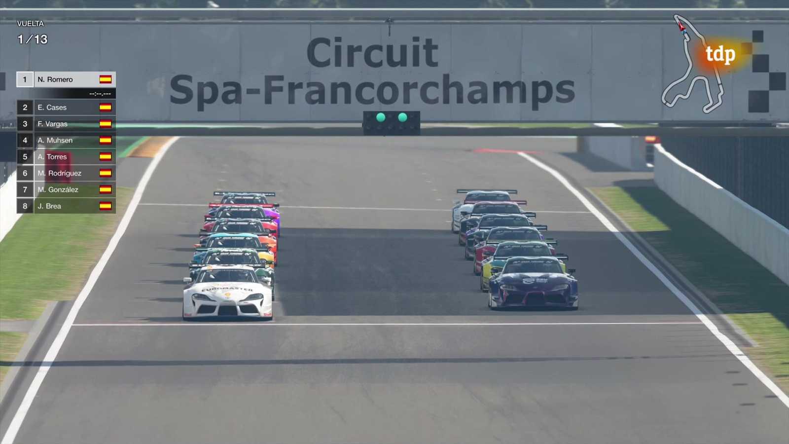 Automovilismo Virtual - Campeonato de España Gran Turismo. Gran Premio 5 - ver ahora