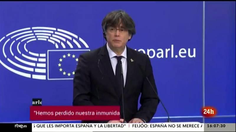 Parlamento - Otros parlamentos - Puigdemont pierde la inmunidad - 13/03/2021