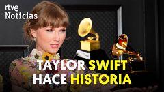 Taylor Swift, primera mujer en ganar por tercera vez el Grammy al disco del año
