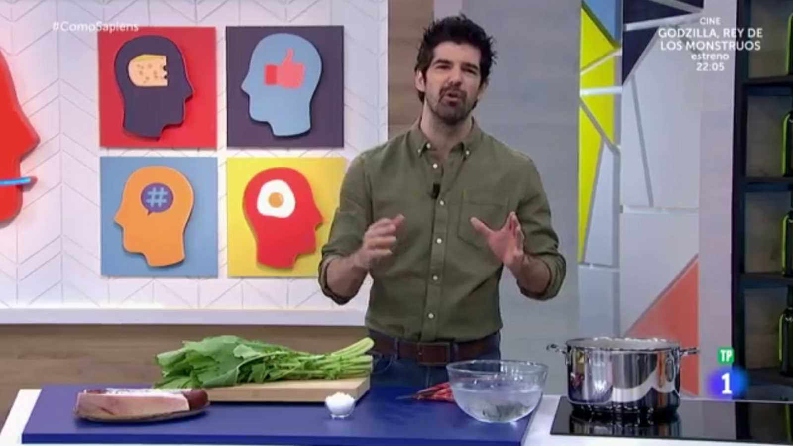 Los trucos de Miguel Ángel Muñoz para cocinar grelos