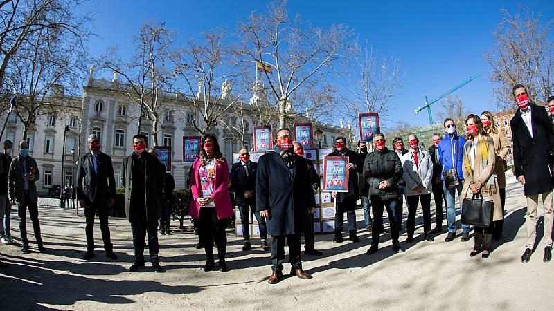 Los hosteleros protestan en toda España