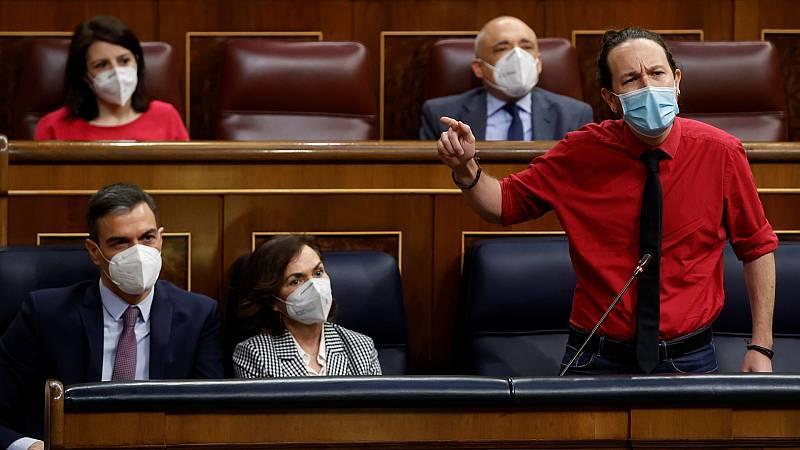 """Iglesias acusa a Egea de comprar diputados de Cs: """"¿Cómo ha conseguido la pasta? ¿La ha puesto usted o se la ha dado algún constructor?"""""""