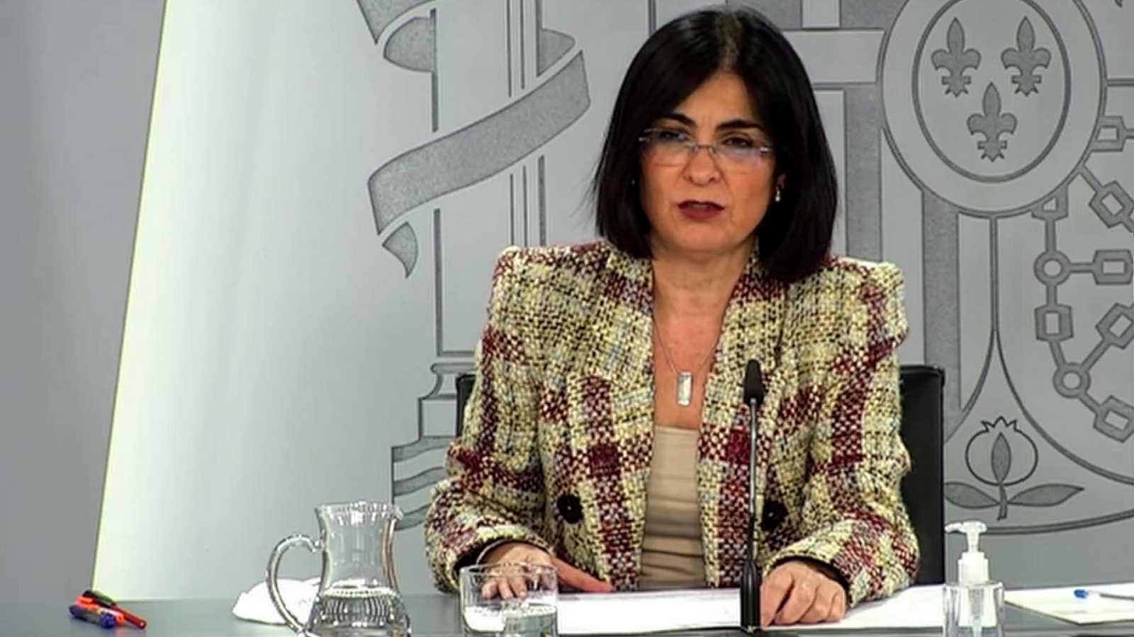 Especial informativo - Comparecencia de la ministra de Sanidad, la directora de la Agencia Española del Medicamento, y el director del Centro de Coordinación de Alertas y Emergencias Sanitarias - 18/03/21 - ver ahora