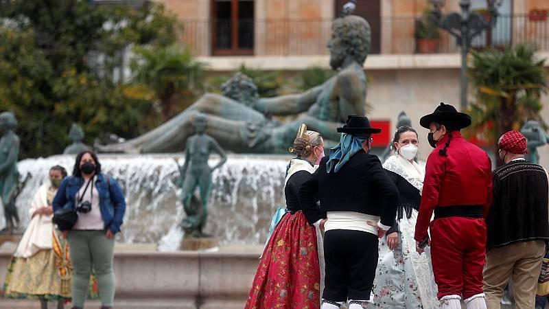 Las fallas de Valencia, en cuarentena por la pandemia de coronavirus