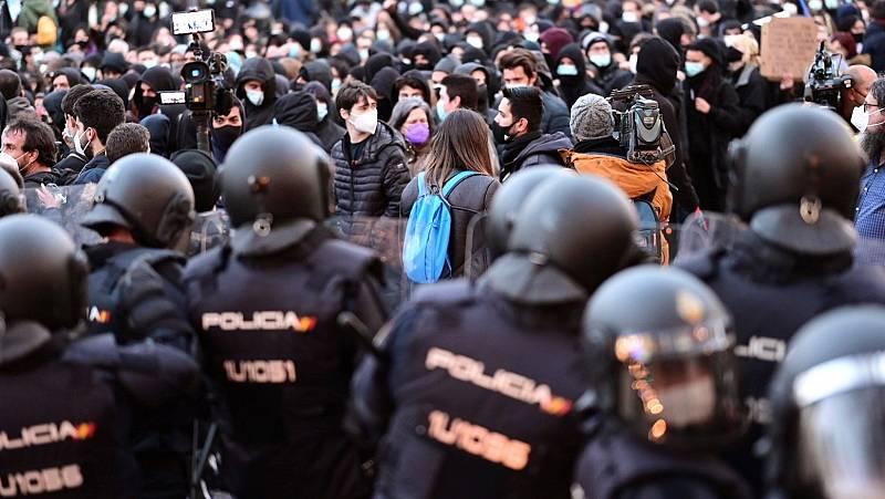 Manifestaciones en Madrid y Cataluña por la libertad de Hasel