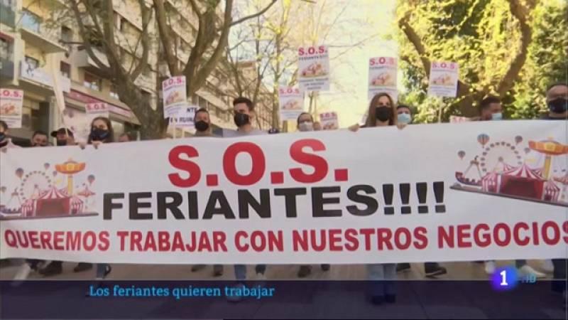 Los feriantes extremeños piden poder trabajar - 22/03/2021