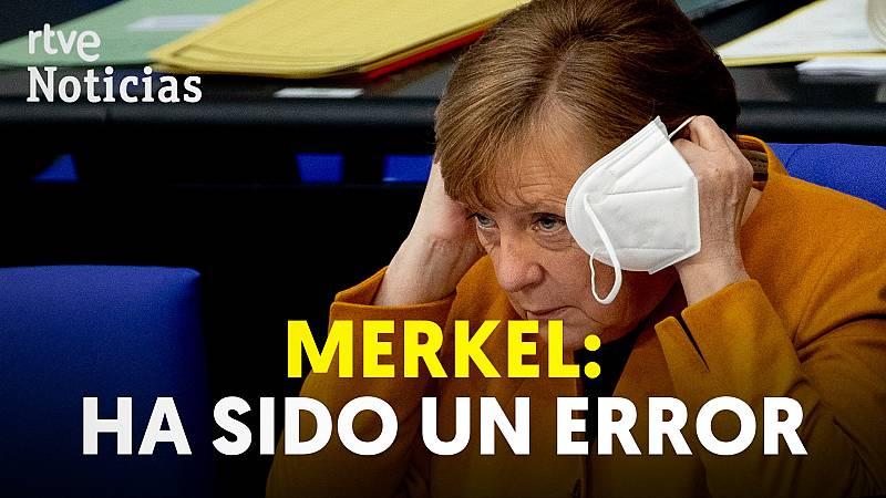 Merkel da marcha atrás y no cerrará Alemania en Semana Santa