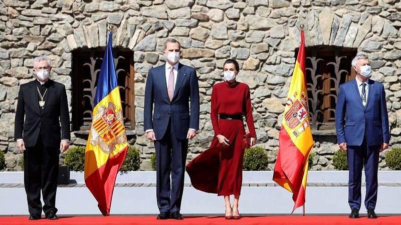 Los reyes retoman su agenda exterior con la primera visita oficial a Andorra de un jefe de Estado español