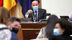 """Tenso rifirrafe entre Pérez de los Cobos, Mayoral y Rufián en la comisión 'Kitchen': """"¡No me interrumpa!"""""""