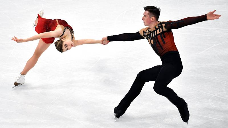 Mishina y Galliamov, la pareja campeona del mundo en Estocolmo