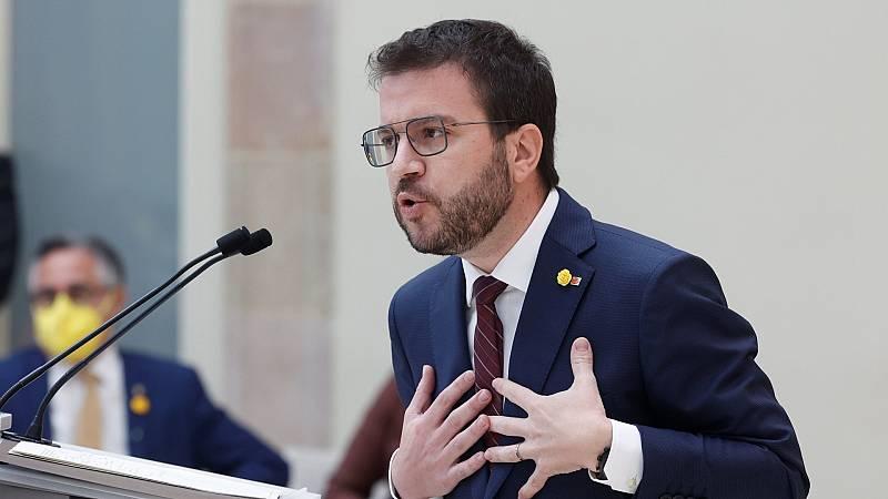 """Aragonès propone un """"acuerdo nacional"""" para recuperar la """"unidad estratégica"""" del 1-O y avanzar hacia la república"""