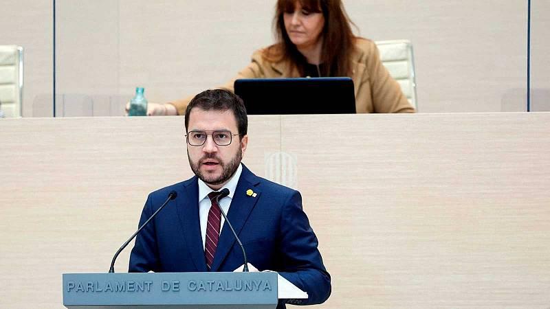 Aragonès no logra ser investido en la primera vuelta por la abstención de JxCat