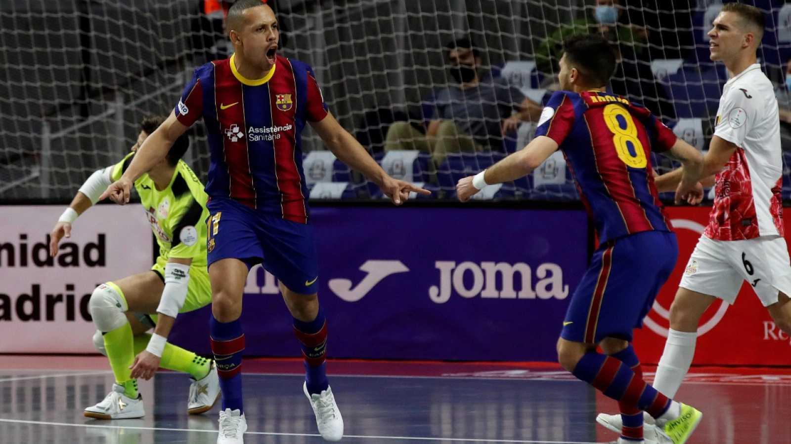 Tanda de penaltis del Barça-El Pozo, de cuartos de final de la Copa de España de Futsal