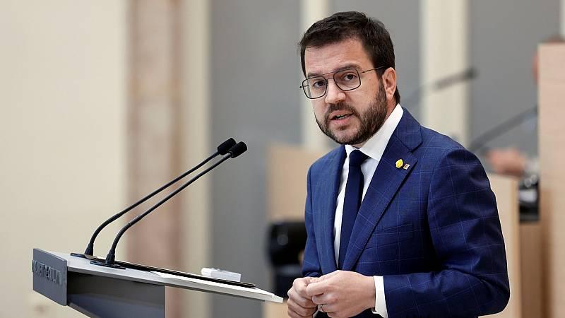 """Aragonès fracasa en la investidura y advierte a Junts de que no quiere la """"tutela"""" de Puigdemont"""