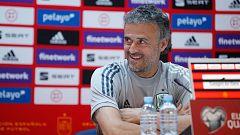 """Luis Enrique: """"No he visto a ningún entrenador que, sin cambiar el once, gane siempre"""""""