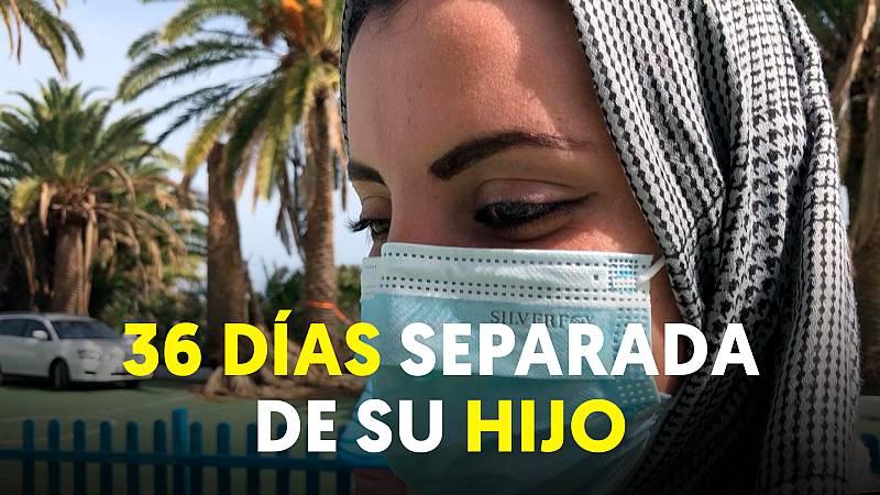 """Una madre, al llegar a Canarias: """"Estuve 36 días separada de mi hijo"""""""