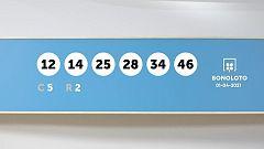 Sorteo de la Lotería Bonoloto del 01/04/2021