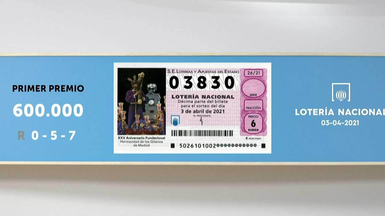 Sorteo De La Lotería Nacional 03 04 2021