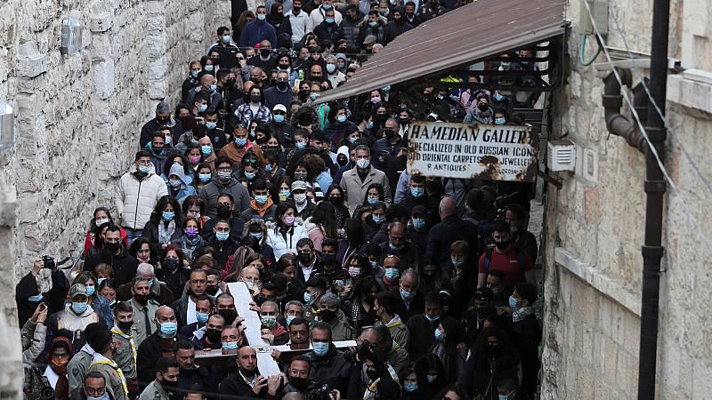 Jerusalén recobra el pulso tras un año de pandemia