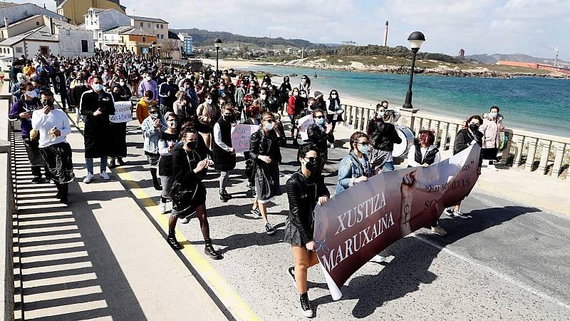 Casi cien mujeres protestan la decisión del juzgado sobre un caso de cámaras ocultas en Lugo