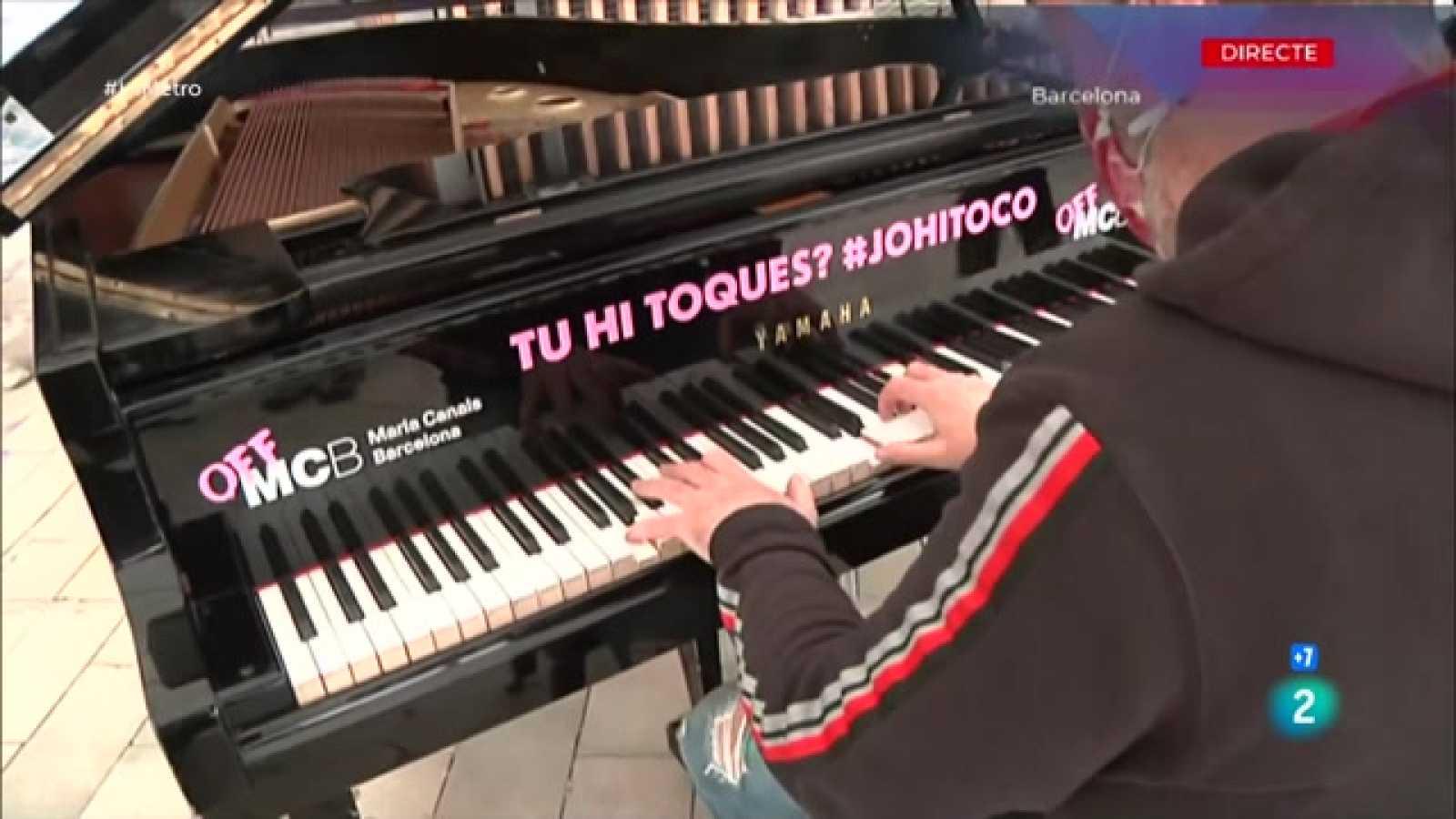 Concert de piano Maria Canals al CAP Guinardó per acostar la música als sanitaris