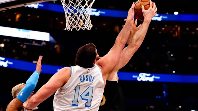 Marc Gasol realiza ante los Raptors su mejor partido como jugador de los Lakers