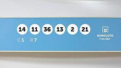 Sorteo de la Lotería Bonoloto del 07/04/2021