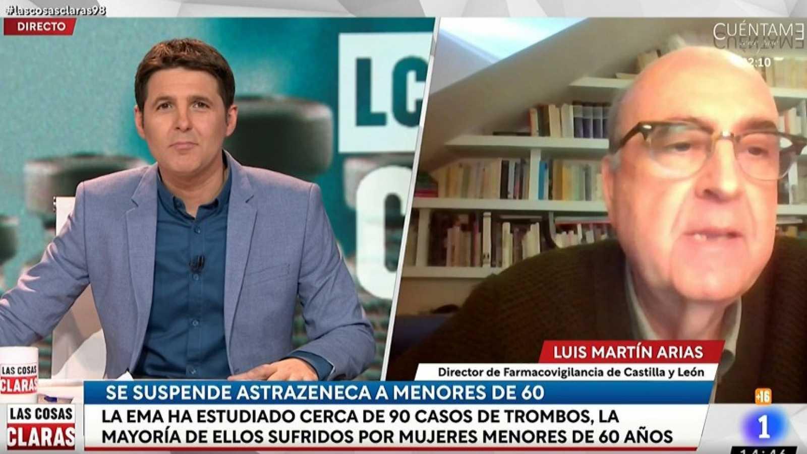 """Luis Martín, director de Farmacovigilancia en Castilla y León, confirma que """"el tromboembolismo es más frecuente en mujeres en edad fértil"""""""