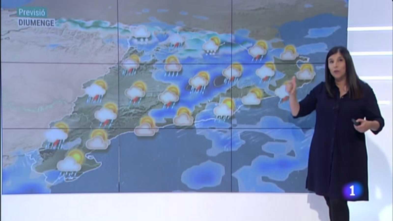 El Temps (09/04/2021) -  Ruixats, tempestes i retorn a l'hivern