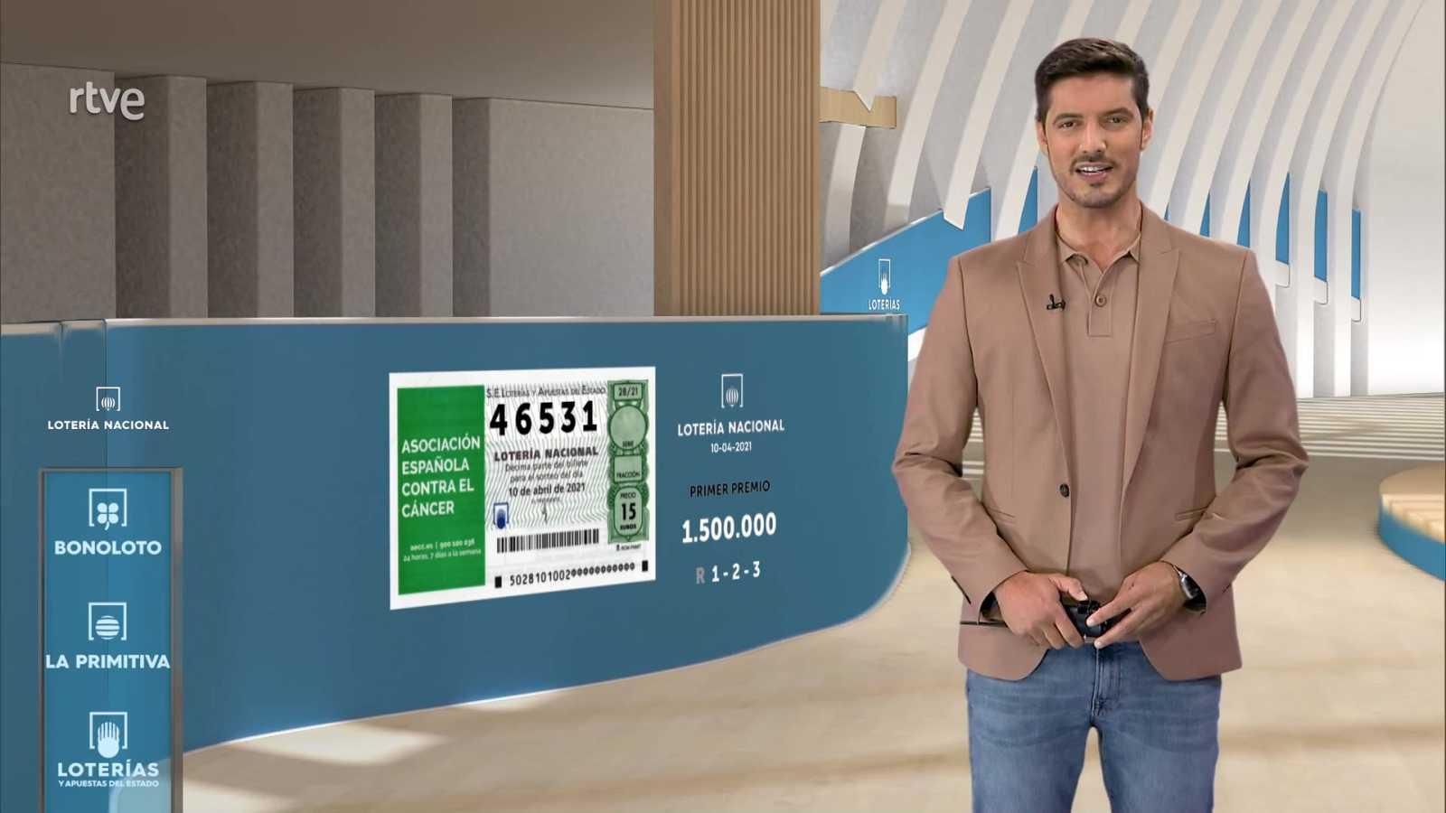 Sorteo de la Lotería Nacional del 10/04/2021 - ver ahora