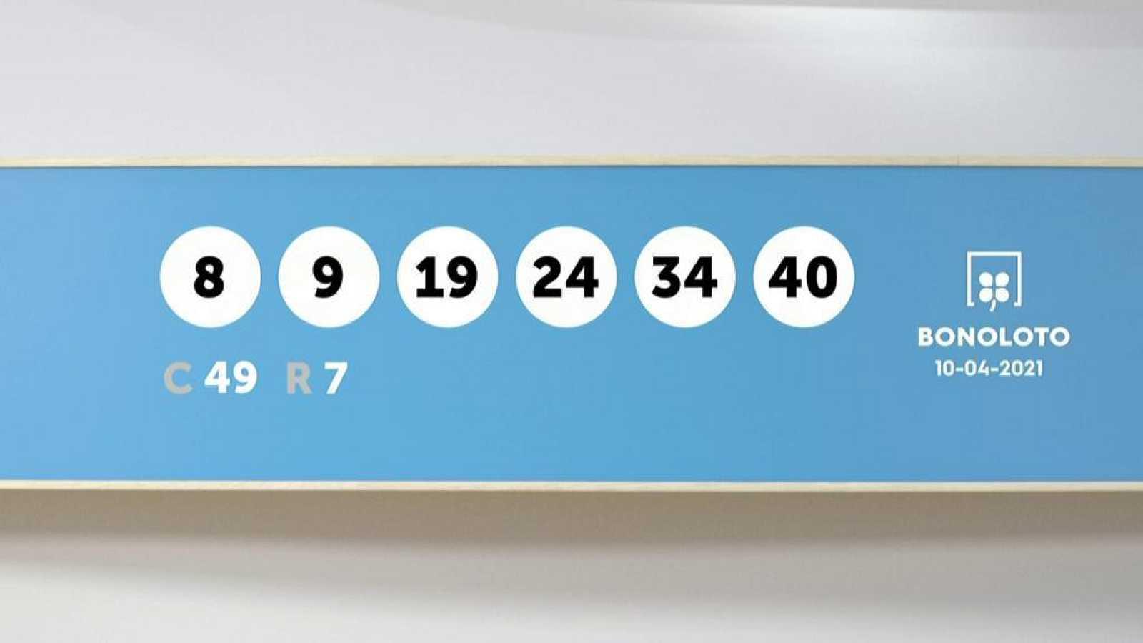 Sorteo de la Lotería Bonoloto del 10/04/2021 - Ver ahora