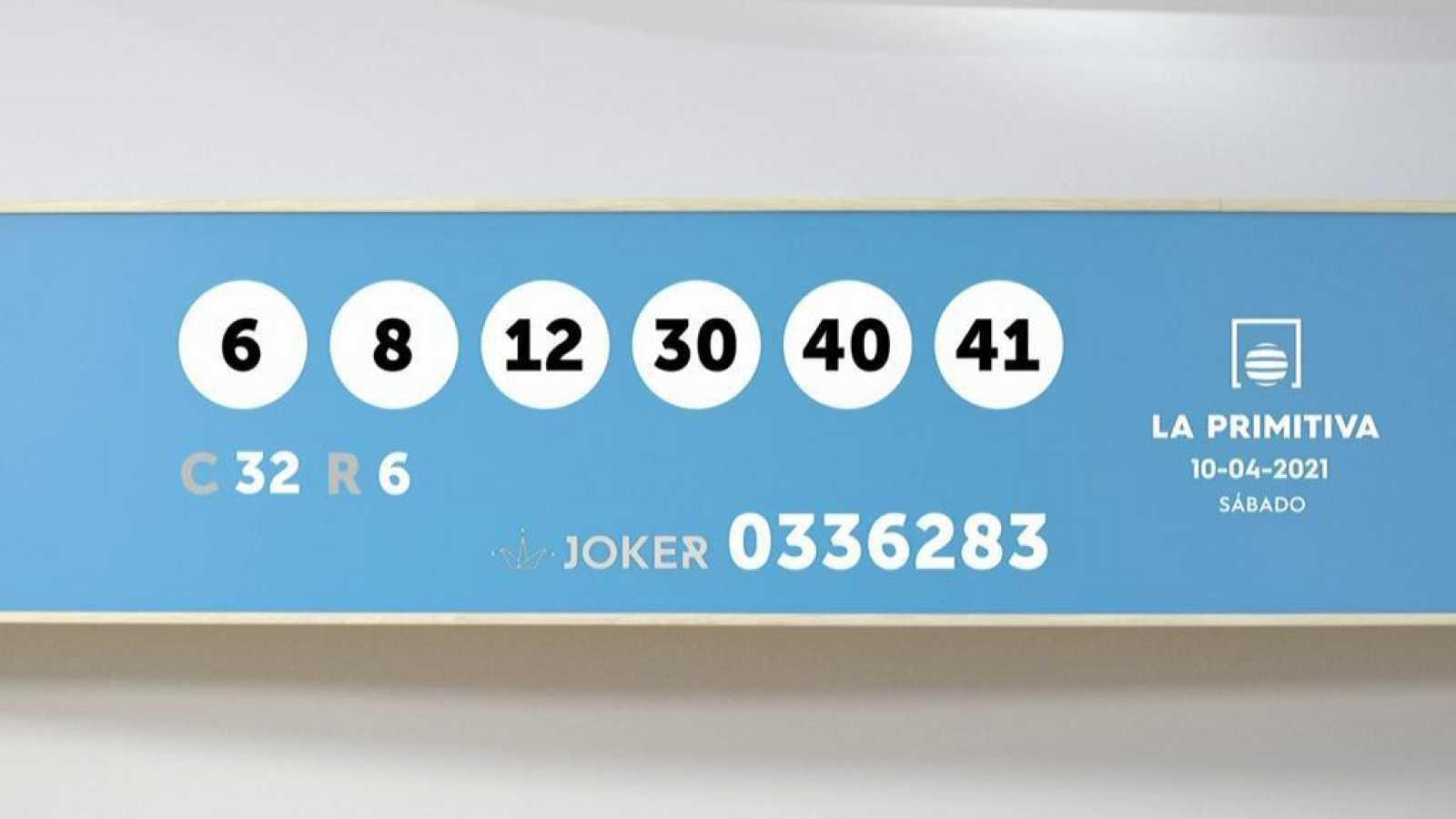 Sorteo de la Lotería Primitiva y Joker del 10/04/2021 - Ver ahora