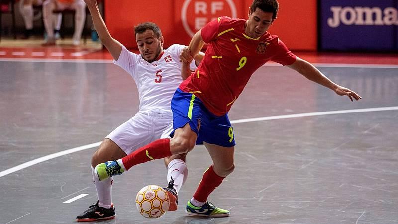 Fútbol Sala - Clasificación Campeonato de Europa. 2ª jornada: Suiza - España - ver ahora