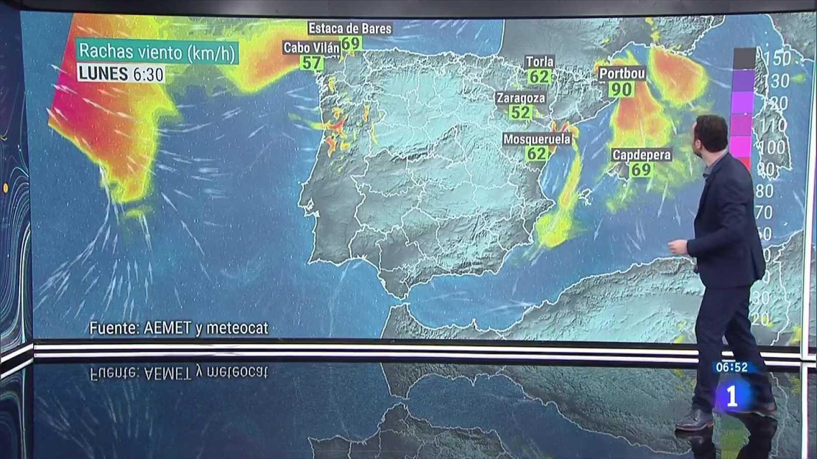 Bajan las temperaturas en el Mediterráneo y suben en el resto