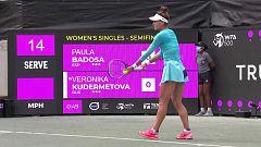 Tenis - WTA Torneo Charleston. 2ª Semifinal: P. Badosa - V. Kudermetova