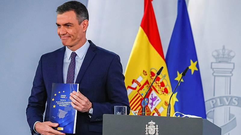 """Sánchez asegura que el Plan de Resiliencia abordará las """"reformas pendientes"""" en España - Ver ahora"""