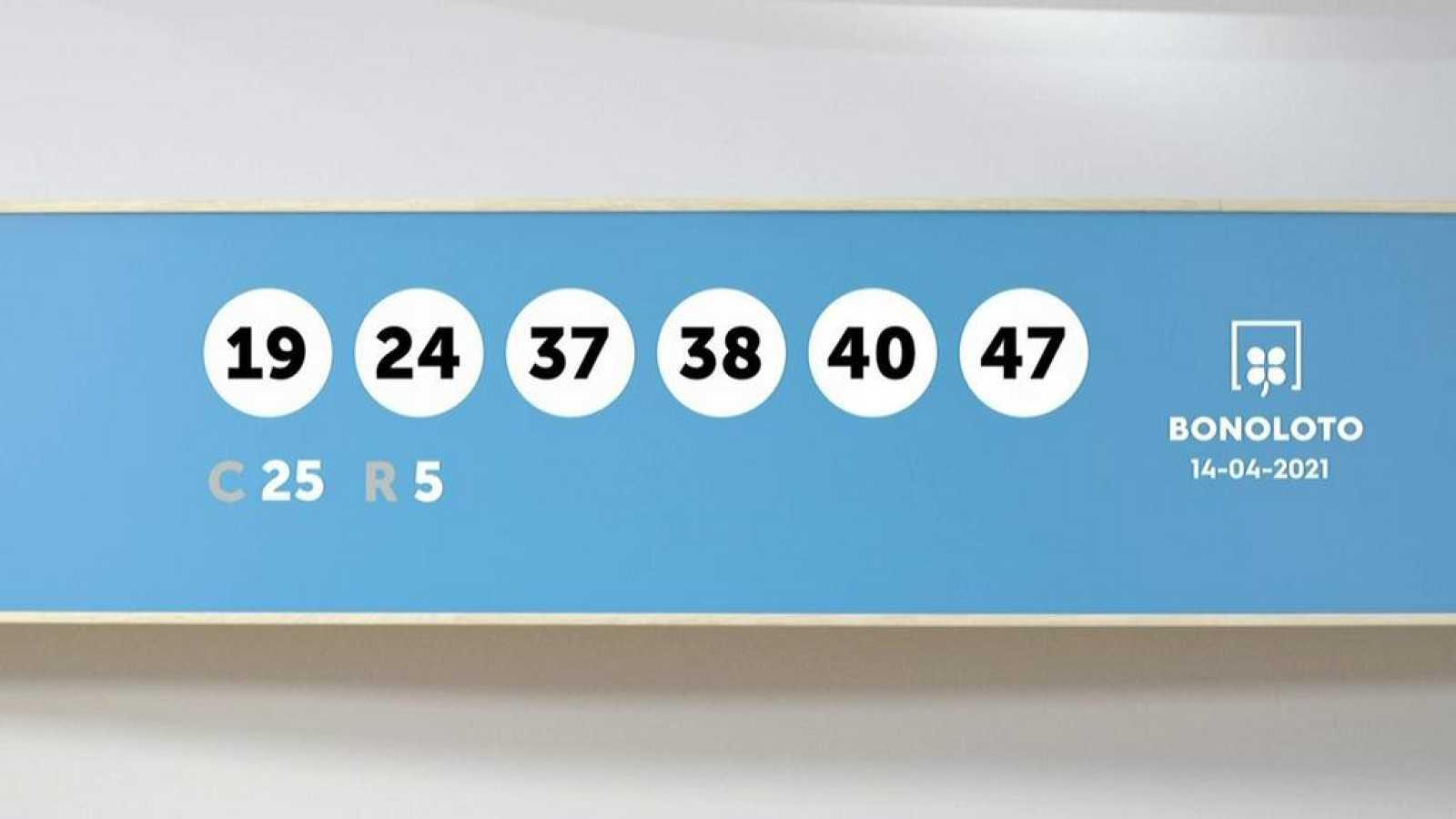 Sorteo de la Lotería Bonoloto del 14/04/2021 - Ver ahora