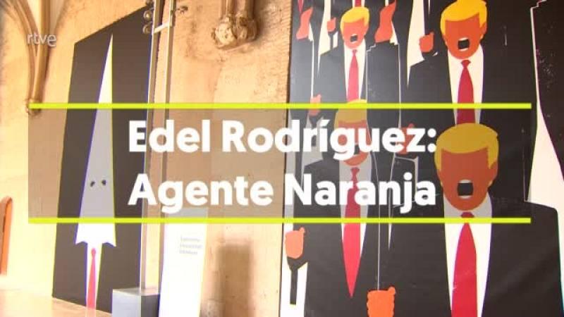 La exposición recoge las ilustraciones de Rodríguez más críticas con el expresidente estadounidense