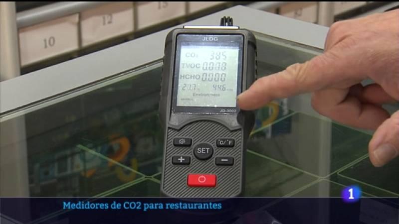 Medidores de CO2 nos restaurantes
