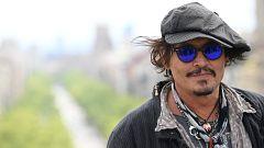 Johnny Depp presenta en Barcelona su última película, 'El fotógrafo de Minamata'