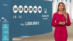 Sorteo de la Bonoloto y Euromillones del 16/04/2021