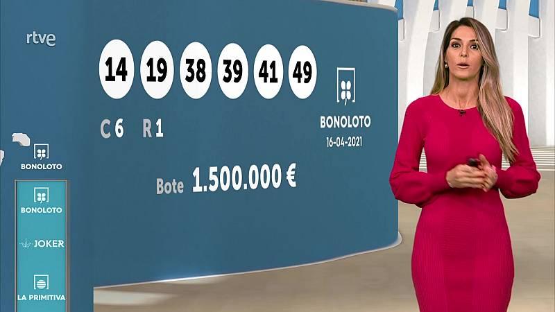 Sorteo de la Bonoloto y Euromillones del 16/04/2021 - ver ahora